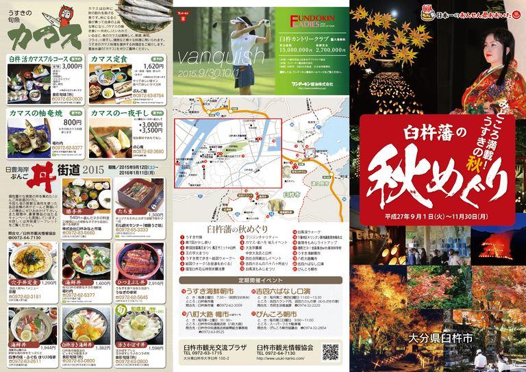 大分の観光情報・ブック・パンフレット・リーフレット・宿・ホテル・グルメなど | :臼杵藩の秋めぐり